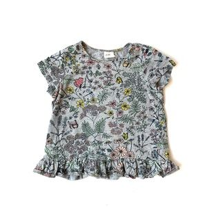 H&M Baby Girl Floral Ruffle Tee